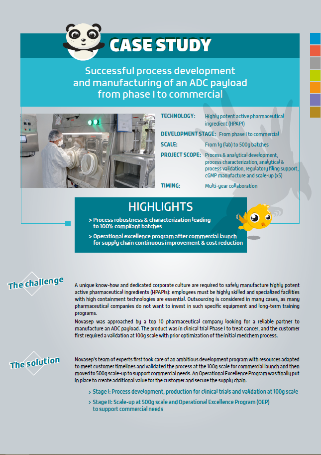 Case Study: Successful process development and manufacturing of an ADC payload from phase 1 to commercial cover