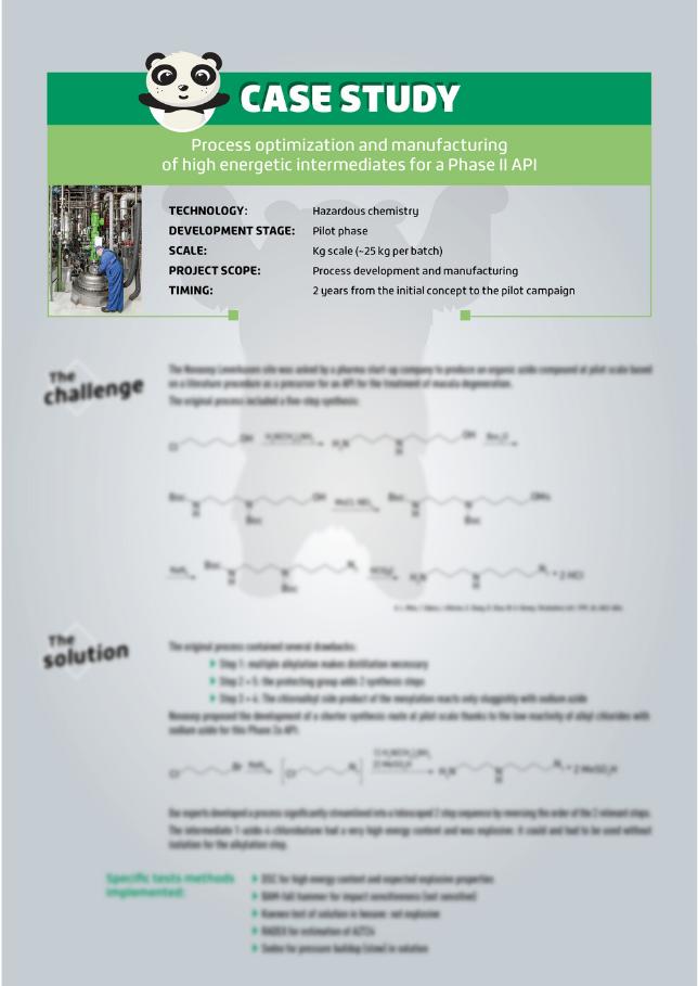Hazardous Chemistry Energetic Intermediates Case Study Cover