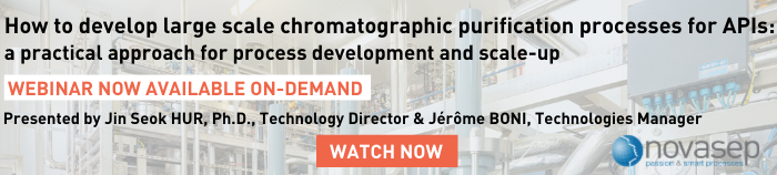 How To Develop Large Scale Chromatographic Purification Processes For APIs Novasep Banner