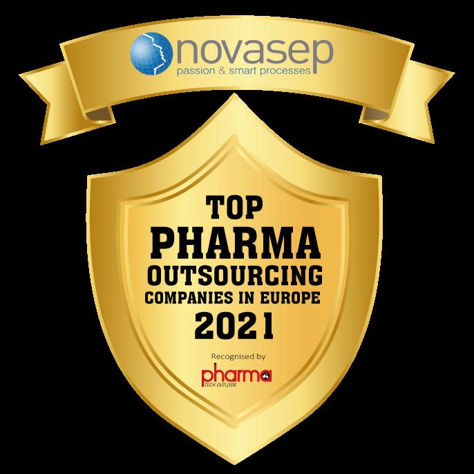 Novasep Award Transparent Logo Top Pharma Outsourcing Companies In Europe 2021