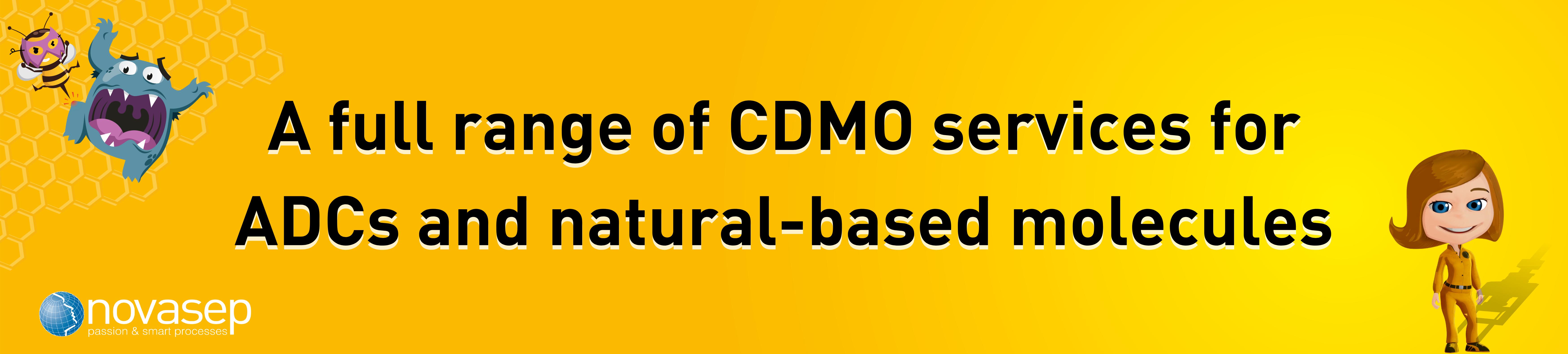Novasep Biopharma CDMO Banner