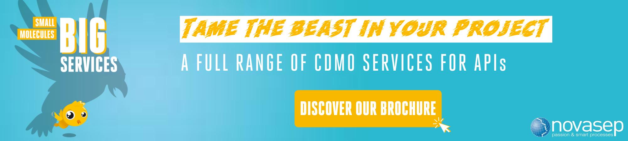 Novasep CDMO Services For API banner