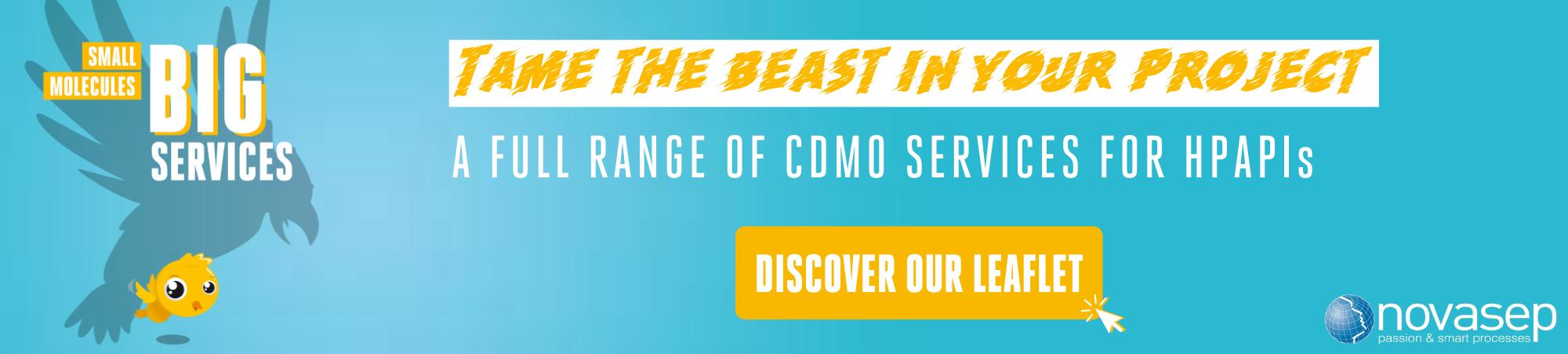 Novasep CDMO Services For HPAPIs Banner