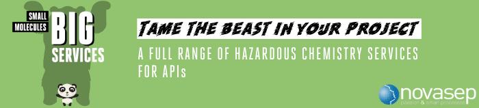 Novasep Hazardous Chemistry Banner