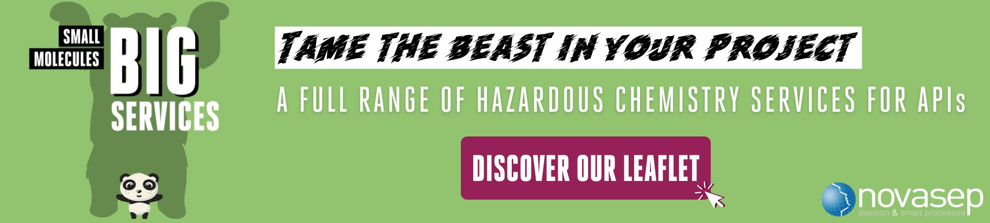 Novasep Hazardous Chemistry For APIs Banner