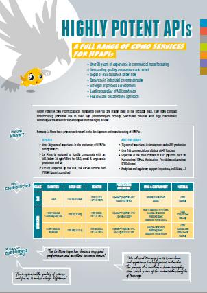 Novasep HPAPI Manufacturing Leaflet