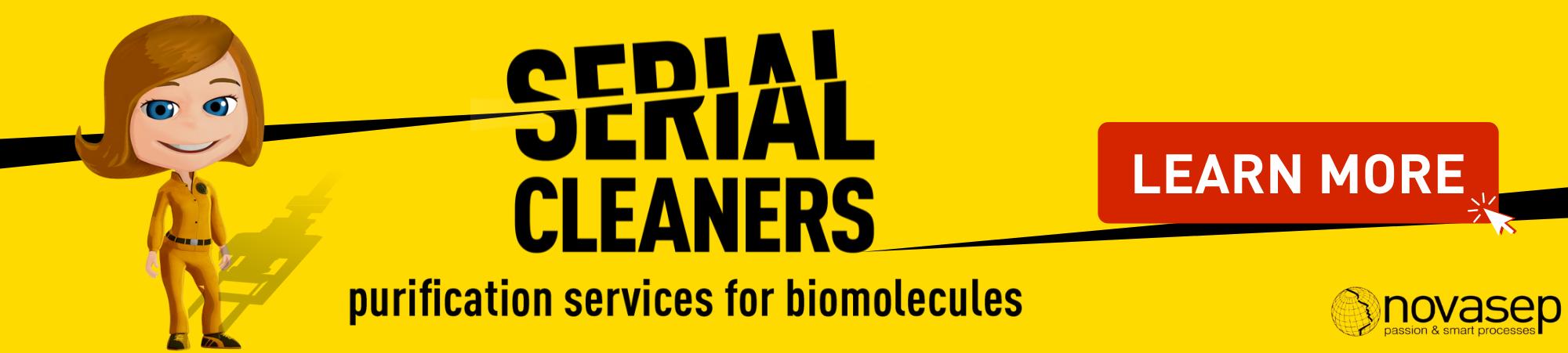 Novasep Serial Cleaners Banner