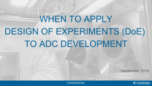 Webinar: When to apply Design of Experiments to ADC development