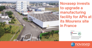 Novasep invests €6.1 million to upgrade its manufacturing facility for Active Pharmaceutical Ingredients at its Mourenx site