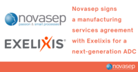 Novasep signs a manufacturing services agreement with Exelixis for a next-generation ADC