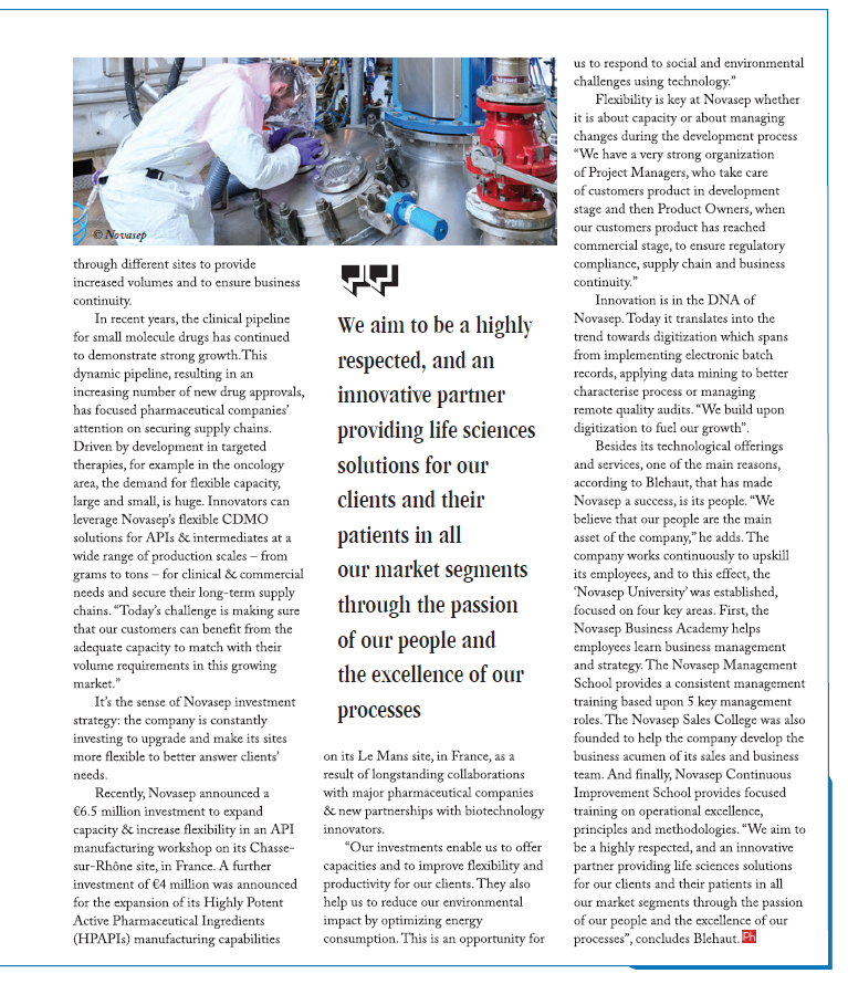 Providing Flexible Manufacturing Solutions For Pharma Innovators Page 3