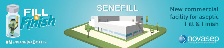 Senefill new commercial facility for aseptic Fill and Finish banner
