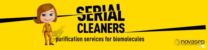 Serial Cleaners Novasep Banner