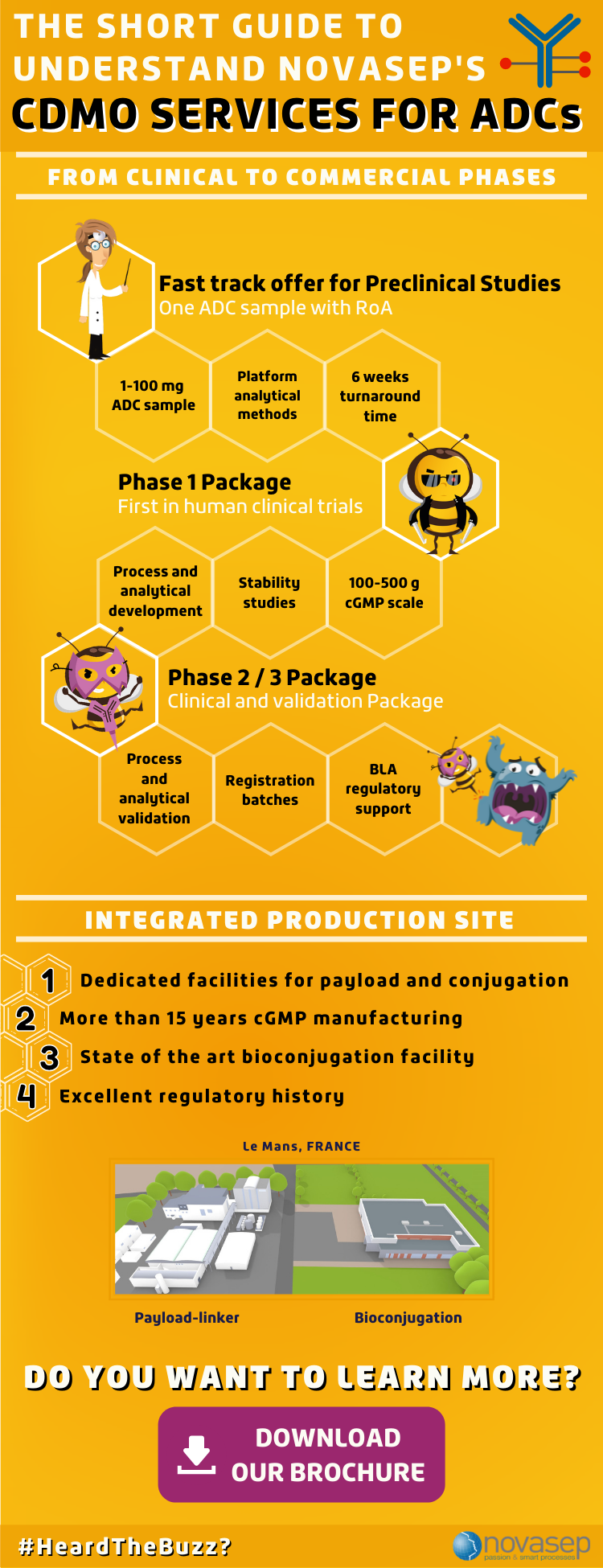 The Short Guide To Understand Novasep's CDMO Services For ADCs - Infographics
