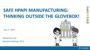 Webinar recording: Safe HPAPI manufacturing - Thinking outside the glovebox!