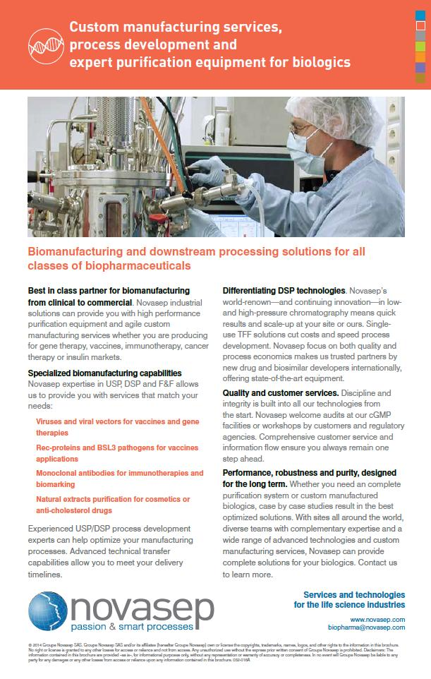 Global offer for biopharmaceuticals
