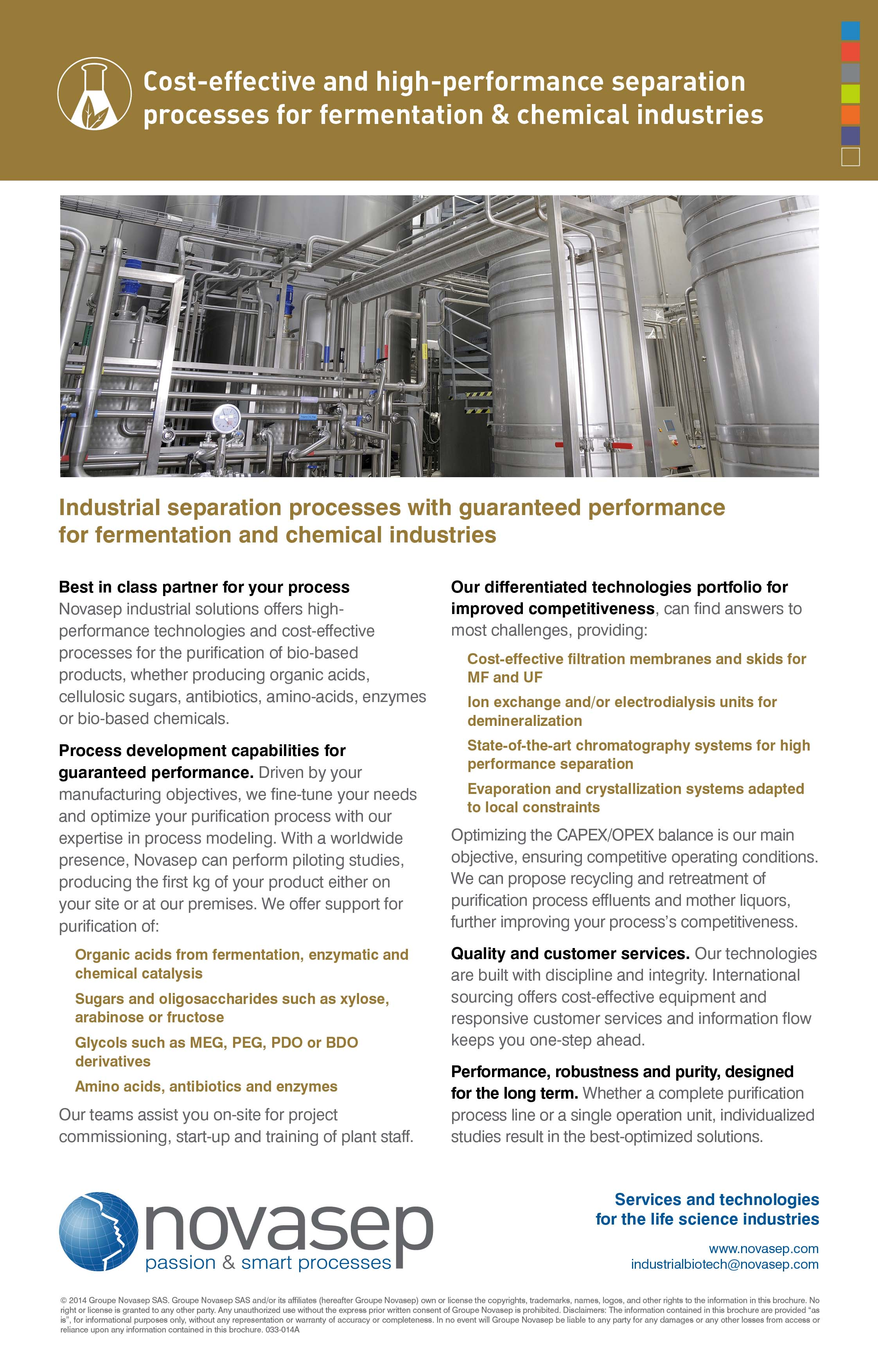 Global offer for fermentation and chemical commodities