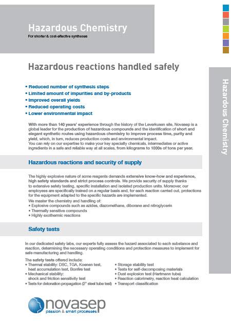 Hazardous chemistry